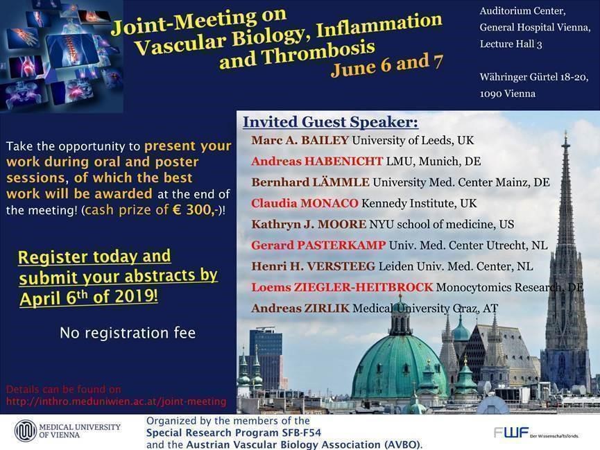 Vascular Biology, Inflammation & Thrombosis meeting, Vienna